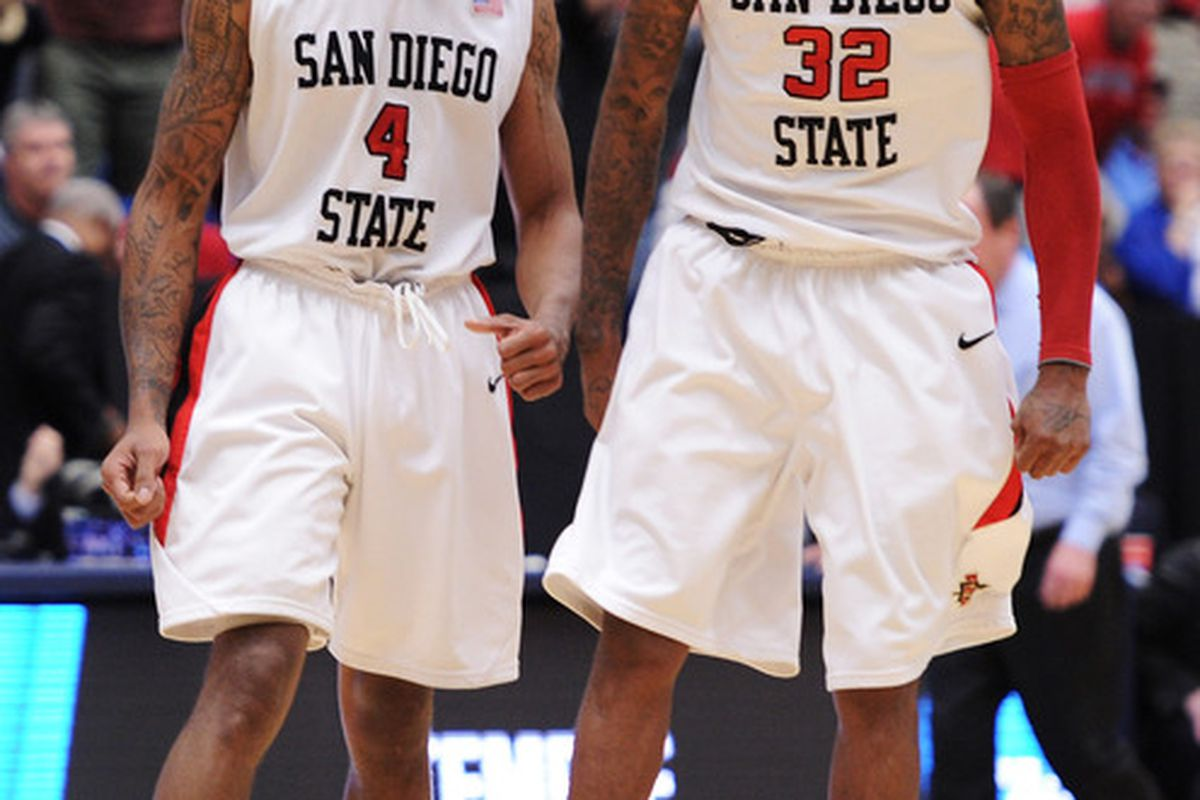 Can the Aztecs keep their tournament run alive tonight against UConn? (Photo by Harry How/Getty Images)