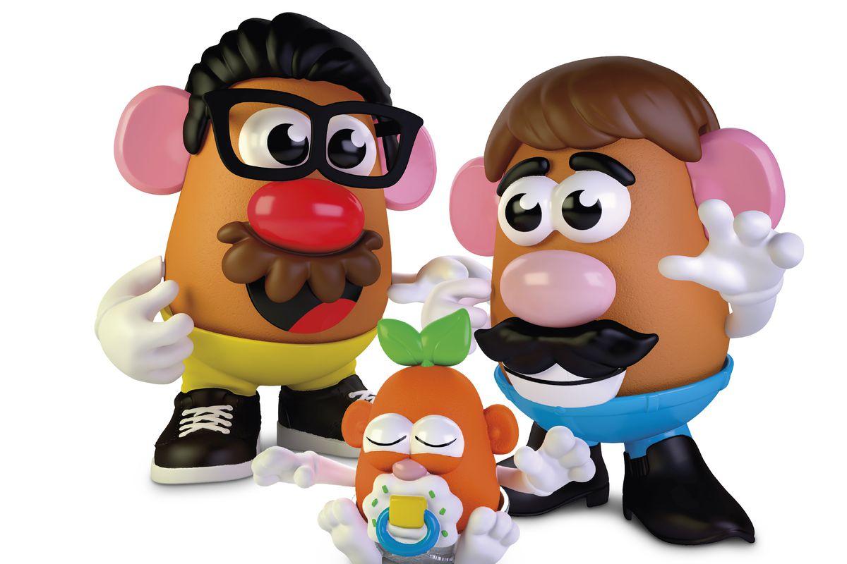 This photo provided by Hasbro shows the new Potato Head world.