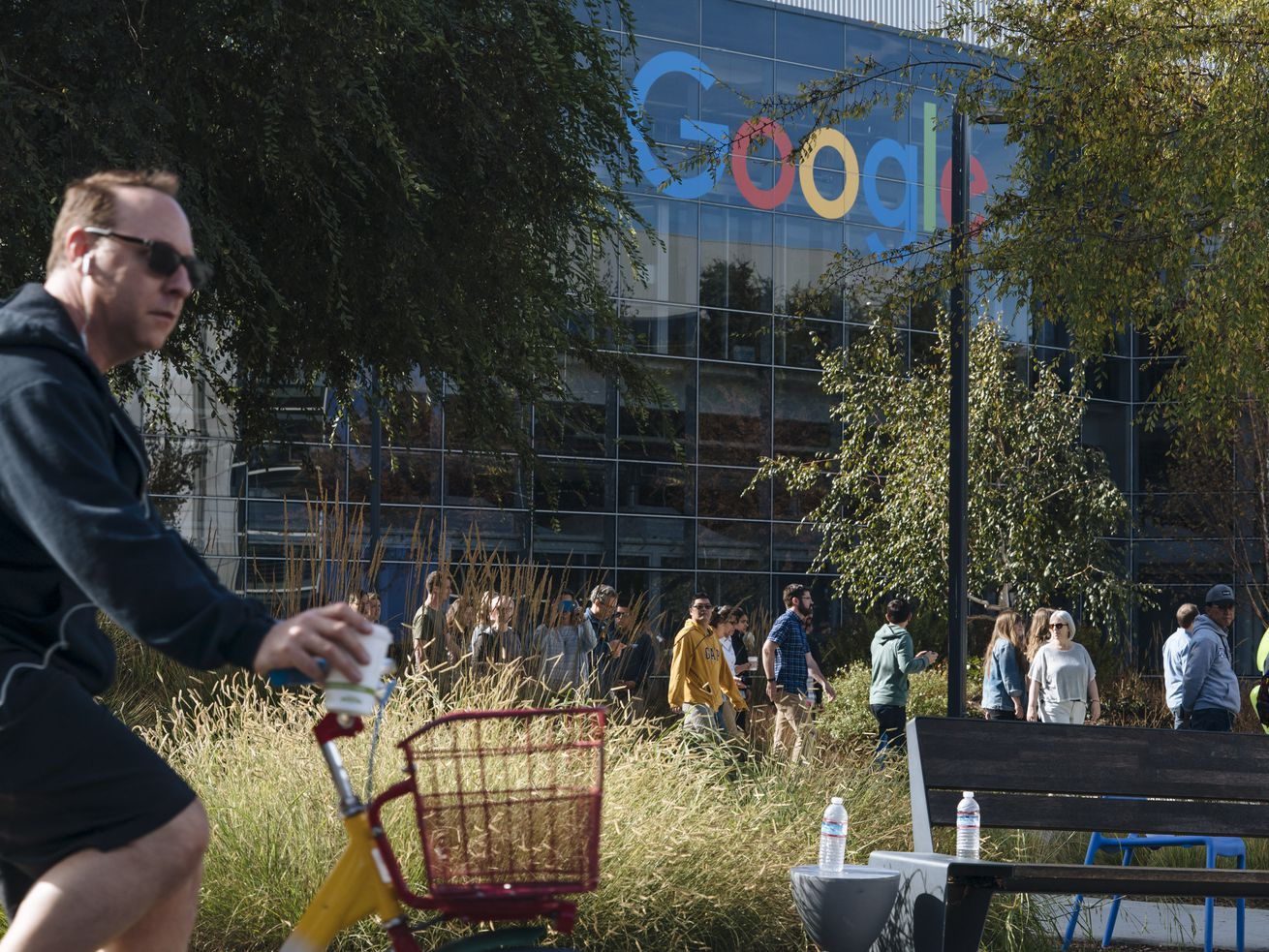Google employees staged a walkout to protest the company's actions on sexual harassment.