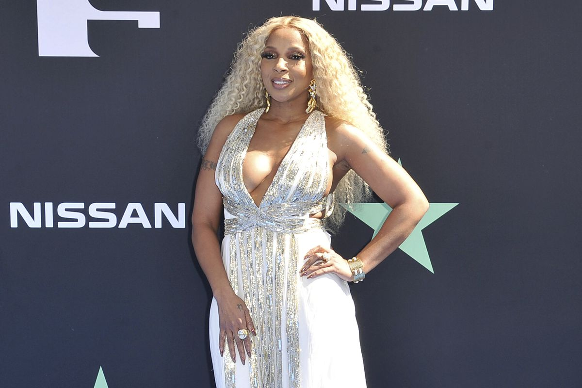 In this 2019 file photo, Mary J. Blige arrives at the BET Awards at the Microsoft Theater in Los Angeles.
