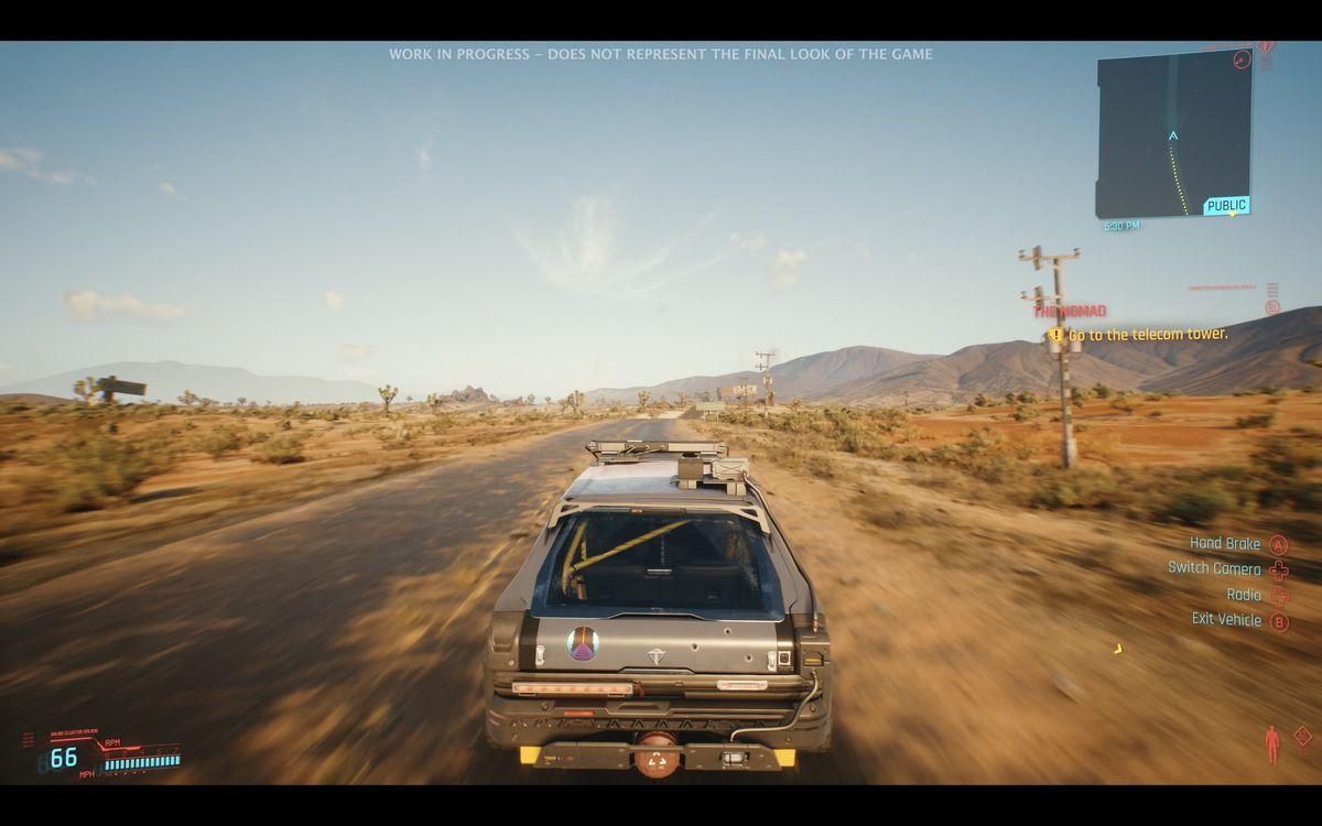 driving around in the Badlands in Cyberpunk 2077