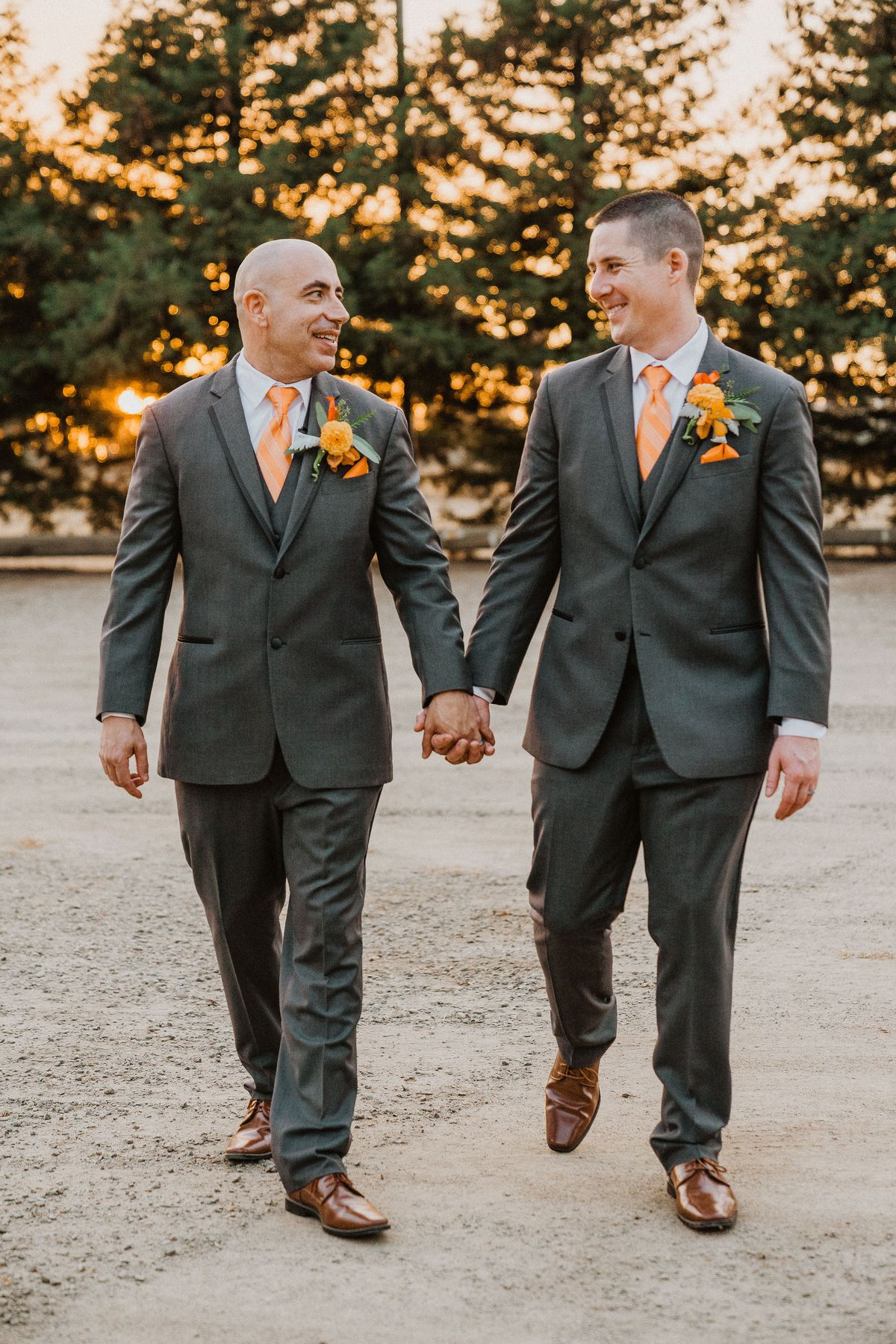 Bryan Pinto, left, and Justin Romeri were married in October
