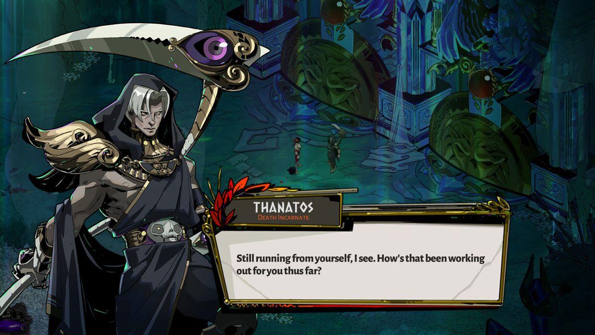 Thanatos from Hades disciplines Zagreus.