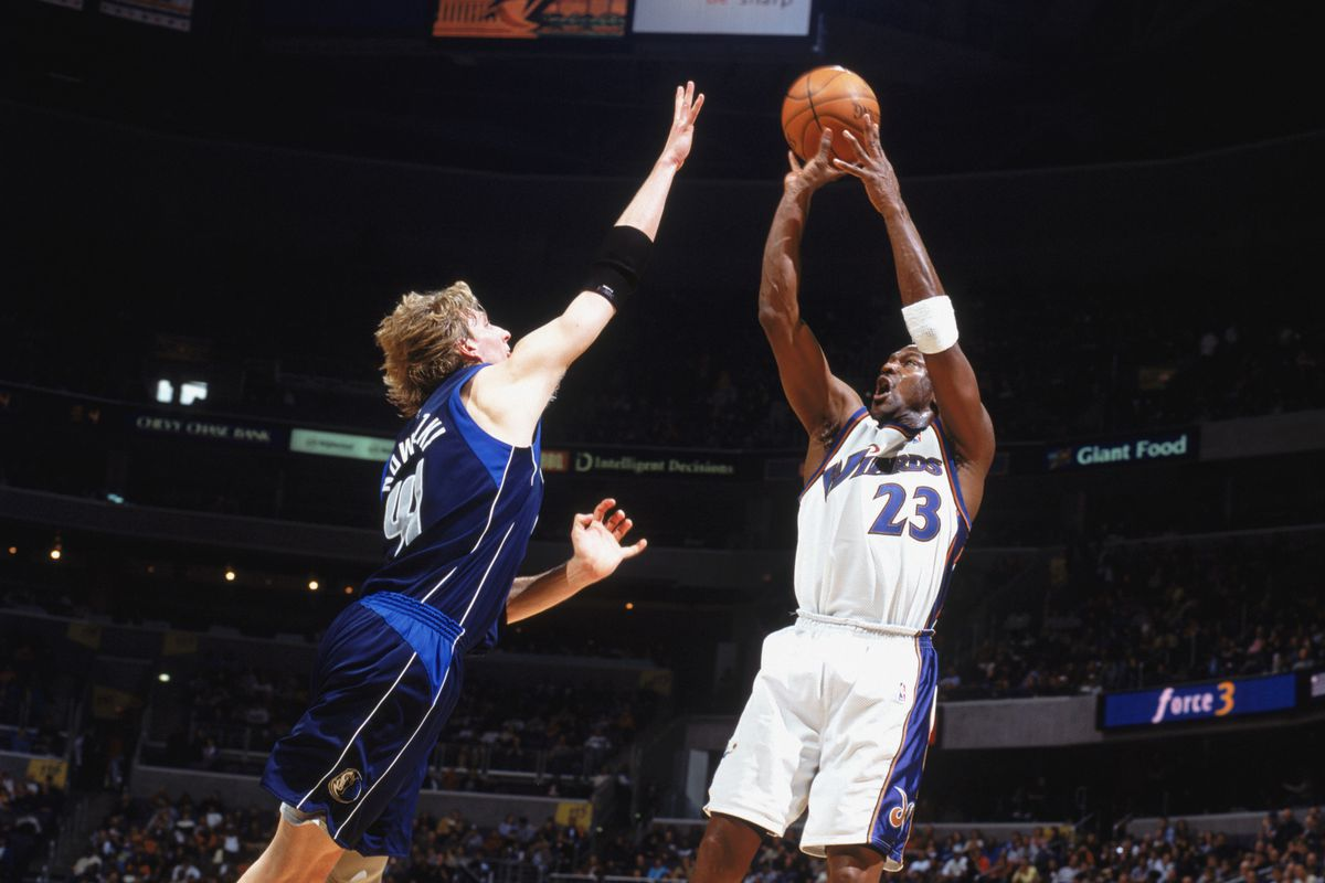 Michael Jordan takes the shot