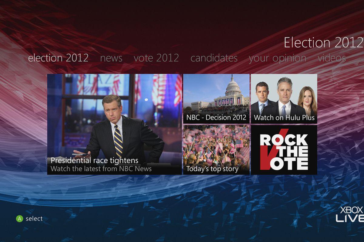 Election 2012 Xbox Live hub