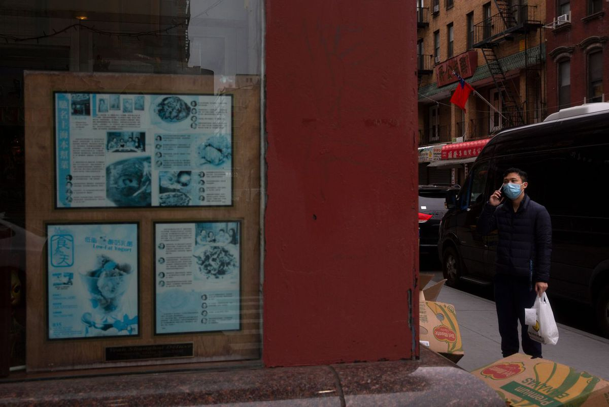 Some businesses in Chinatown were still operating during the coronavirus epidemic.