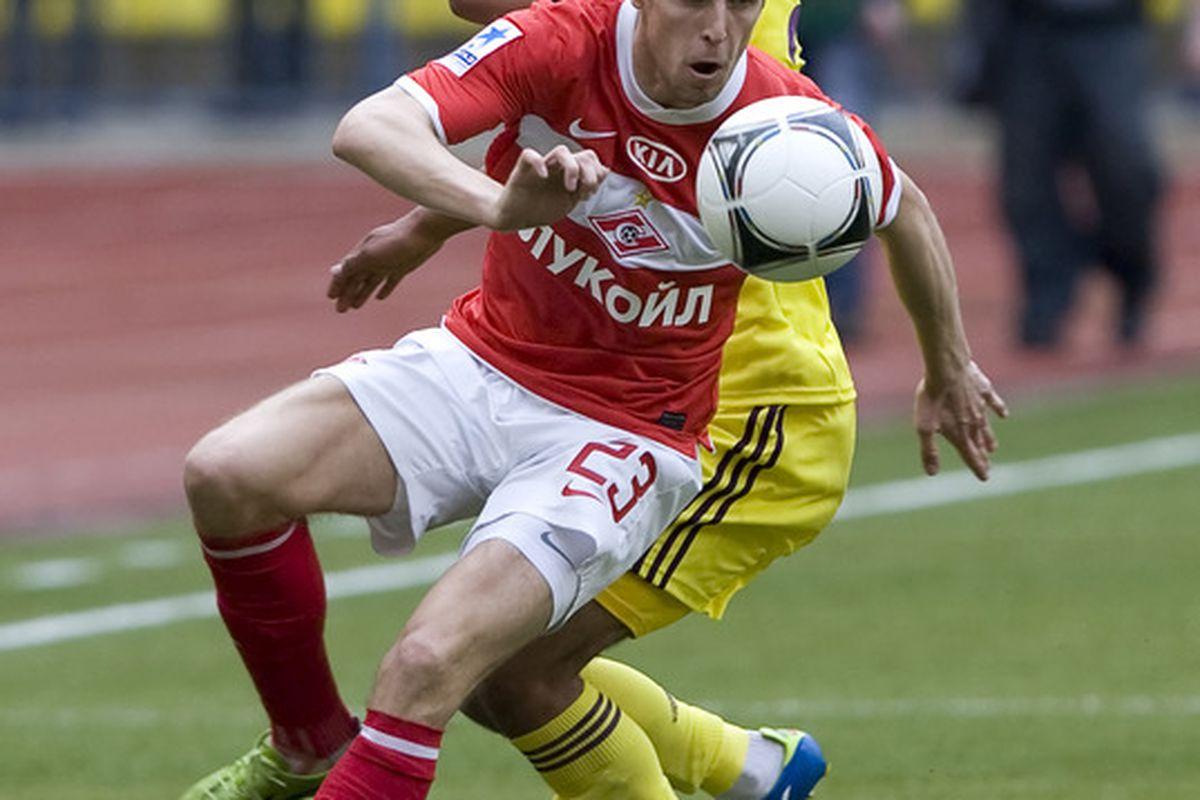 Dmitri Kombarov is top-scorer for Spartak so far this season