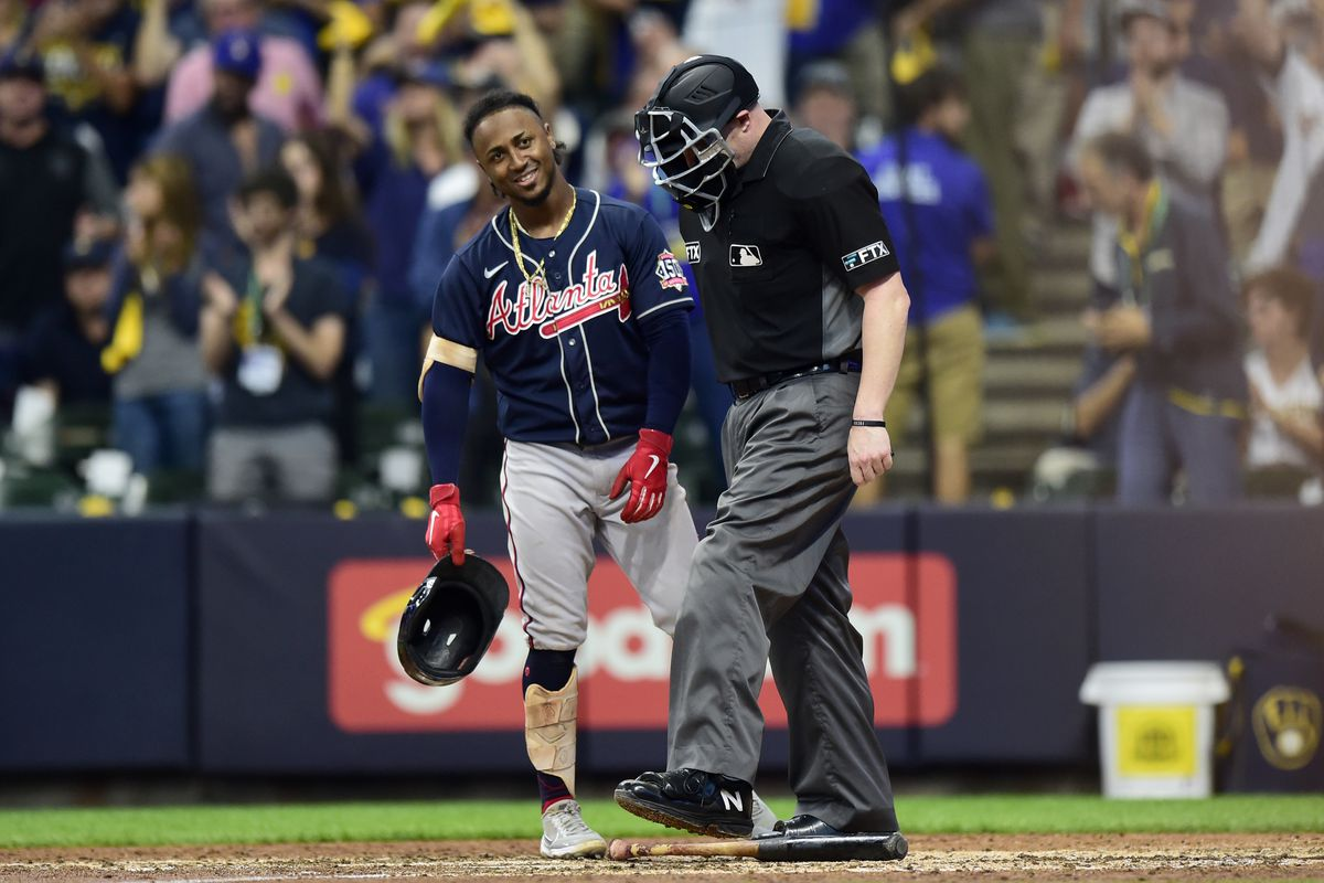 Division Series - Atlanta Braves v Milwaukee Brewers - Game One