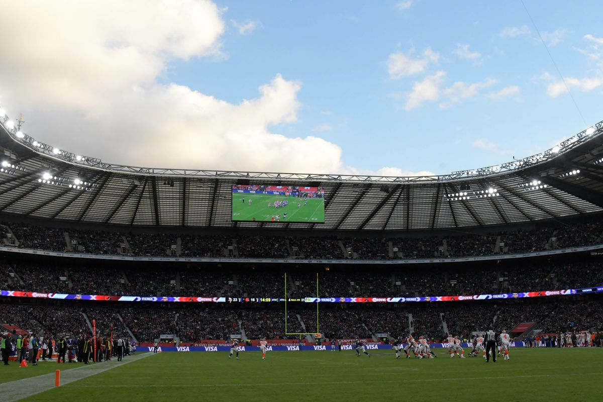 Raiders vs Seahawks in 1st National Football League  game at new Tottenham stadium
