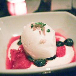 """Ice cream with candied ramps from Hotel Griffou by <a href=""""http://www.flickr.com/photos/j0annie/5641893275/in/pool-eater/"""">jwannie</a>."""