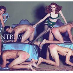 Karen Elson's lingerie ad featured red-bottomed male models.