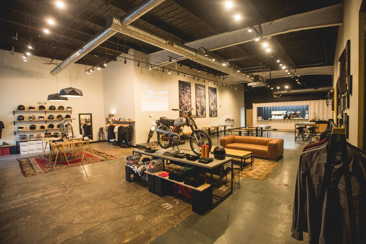 """A recently renovated Cabbagetown coffee/bike/apparel shop hybrid called """"Brother Moto."""""""