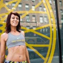 """<a href=""""http://ny.racked.com/archives/2012/08/09/hottest_trainer_contestant_16_sue_molnar.php""""><b>Sue Molnar</b></a> from SoulCycle. Photo by <a href=""""http://www.bonniebethburke.com/"""">Bonnie Burke</a>"""