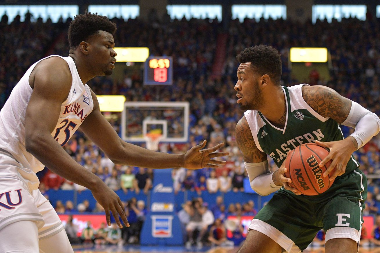 NCAA Basketball: Eastern Michigan at Kansas
