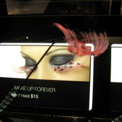 The lashes sit on removable wands, so shoppers can try them on for size.