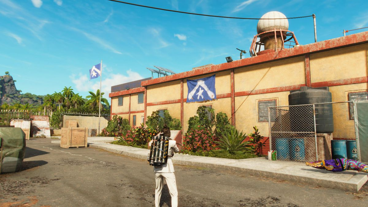 A liberated base in Far Cry 6
