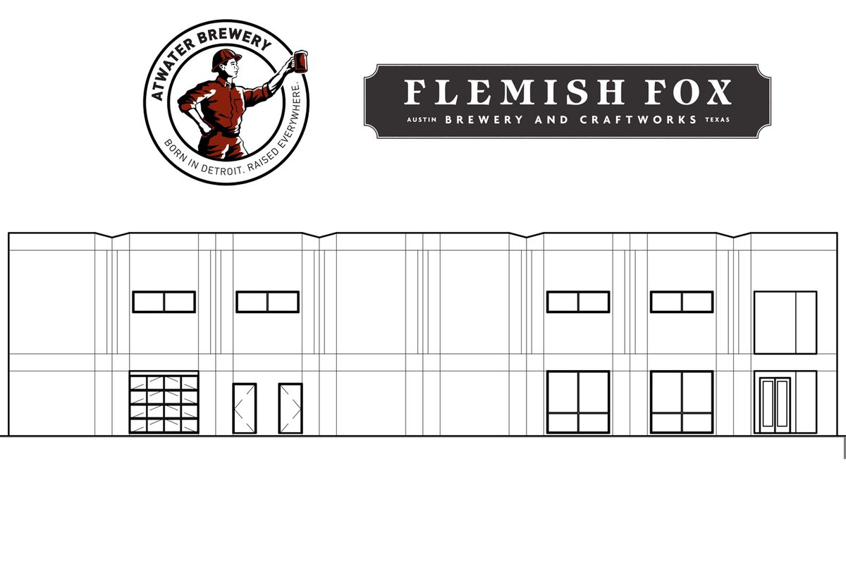 Atwater Brewery and Flemish Fox Brewery's rendering