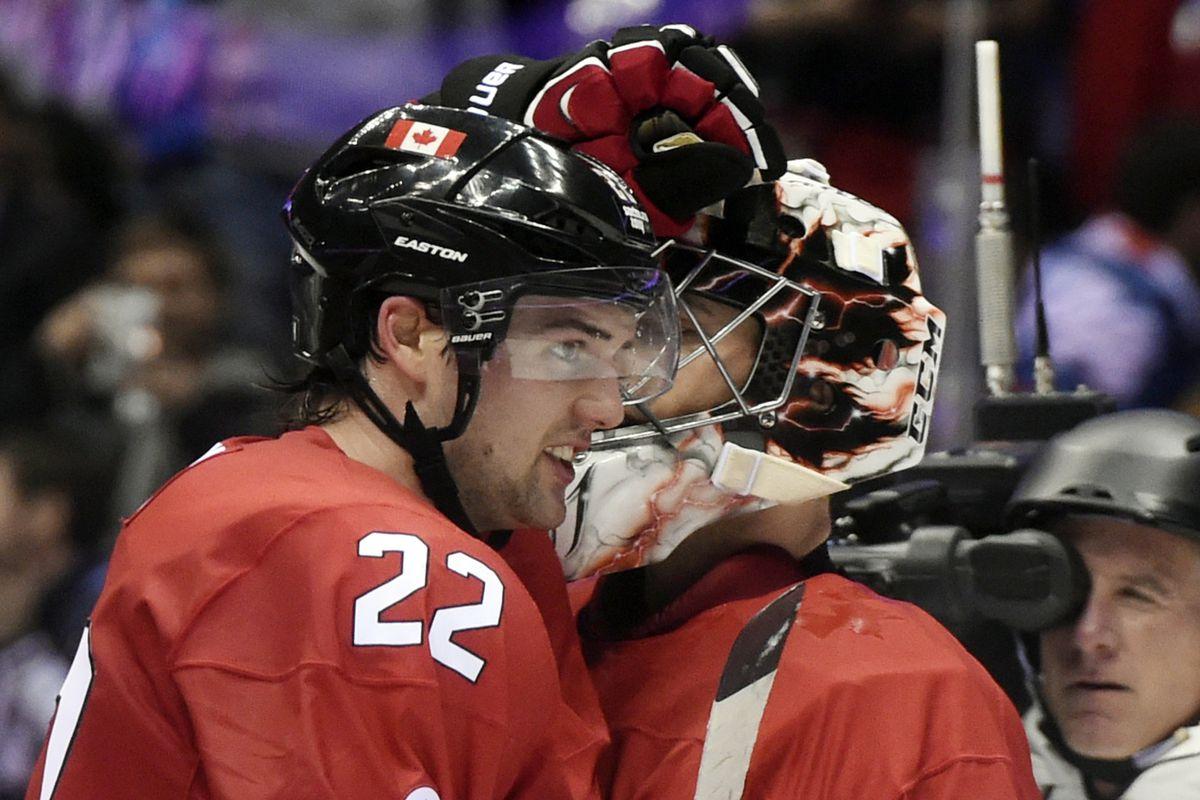 Don't worry Kari Lehtonen, your hugs are still the best Jamie Benn gets after a win.