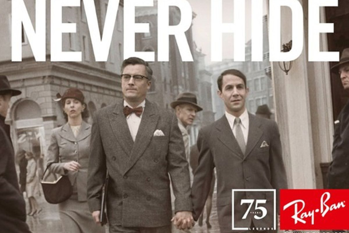 cee21d0b8c Ray-Ban Celebrates 75 Years With First Gay Male Couple In Their  Never Hide   Campaign