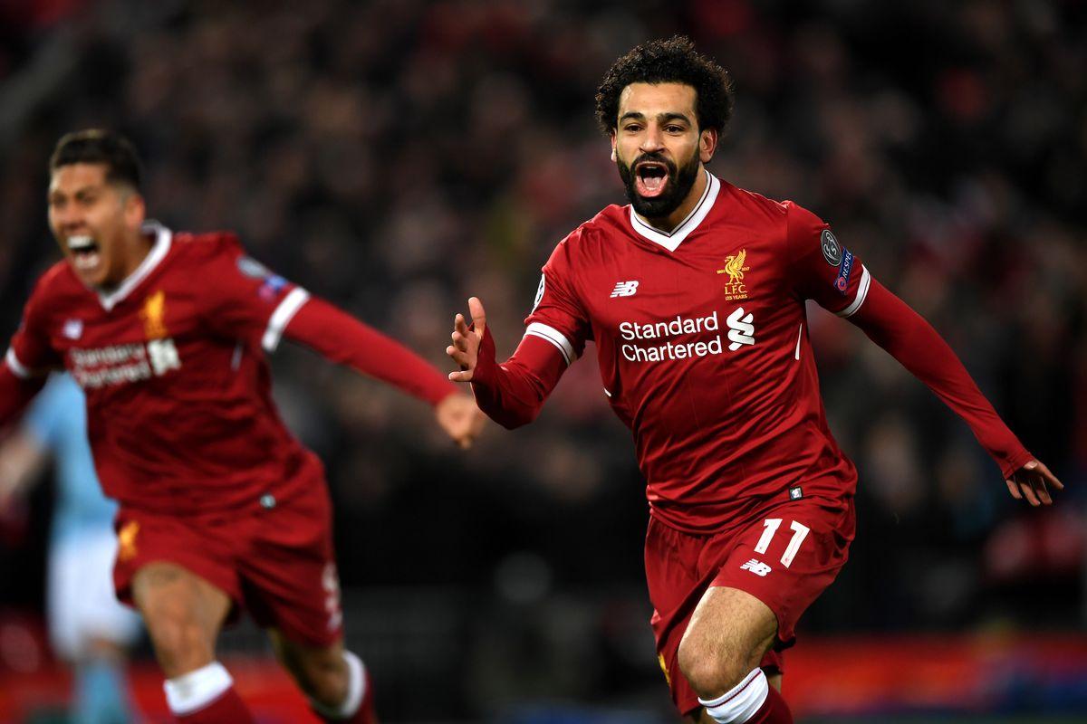 Mohamed Salah - Liverpool v Manchester City - UEFA Champions League Quarter Final Leg One