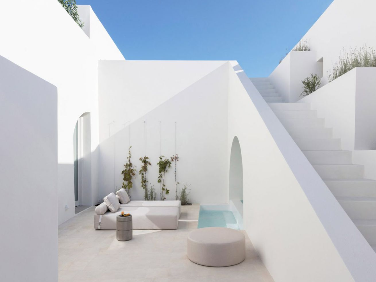Santorini cave house converted into dreamy modern retreats