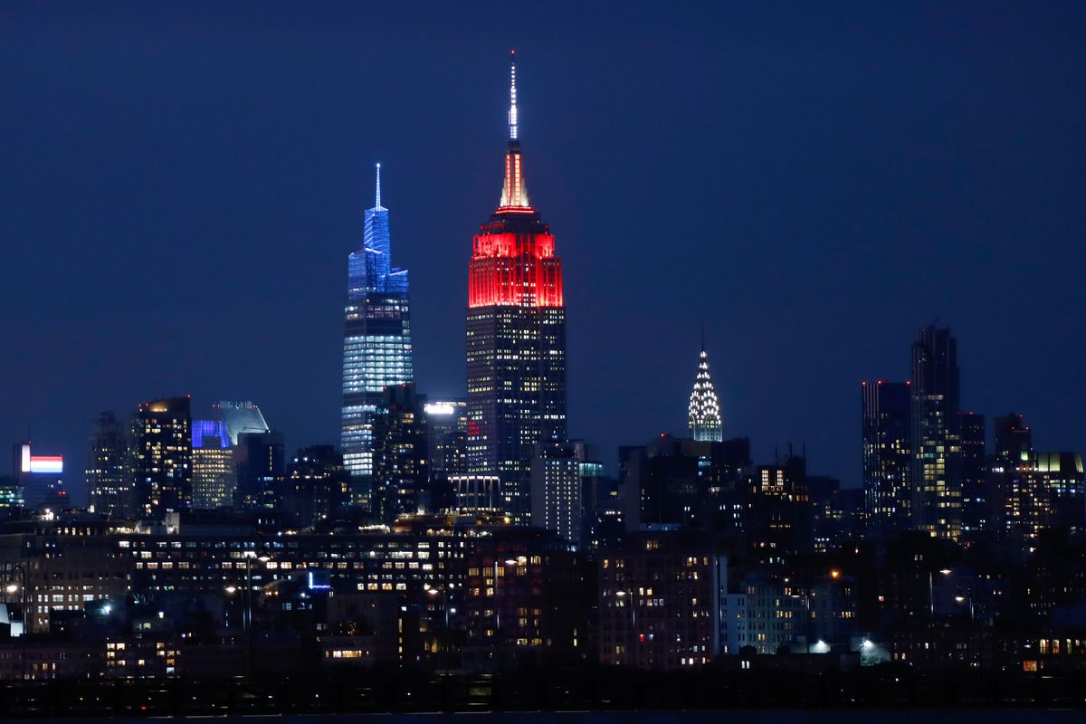 Empire State Building Honors FC Bayern Munich in New York City
