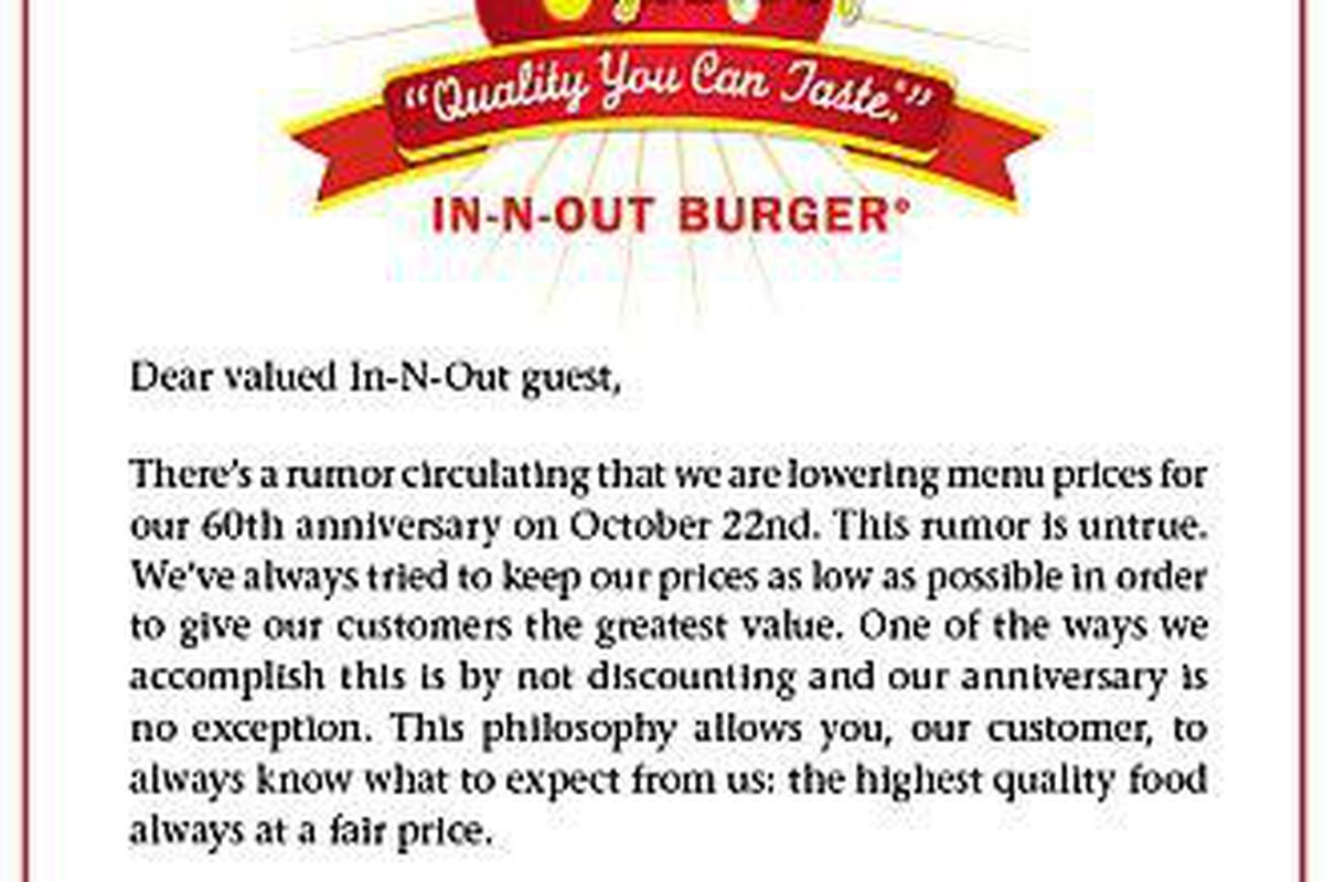 Happy 60th Anniversary In-N-Out, But 25-Cent Burgers Would\'ve Been ...