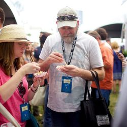 Festival-goers get their grand tasting on. // photo by Andrea Grimes