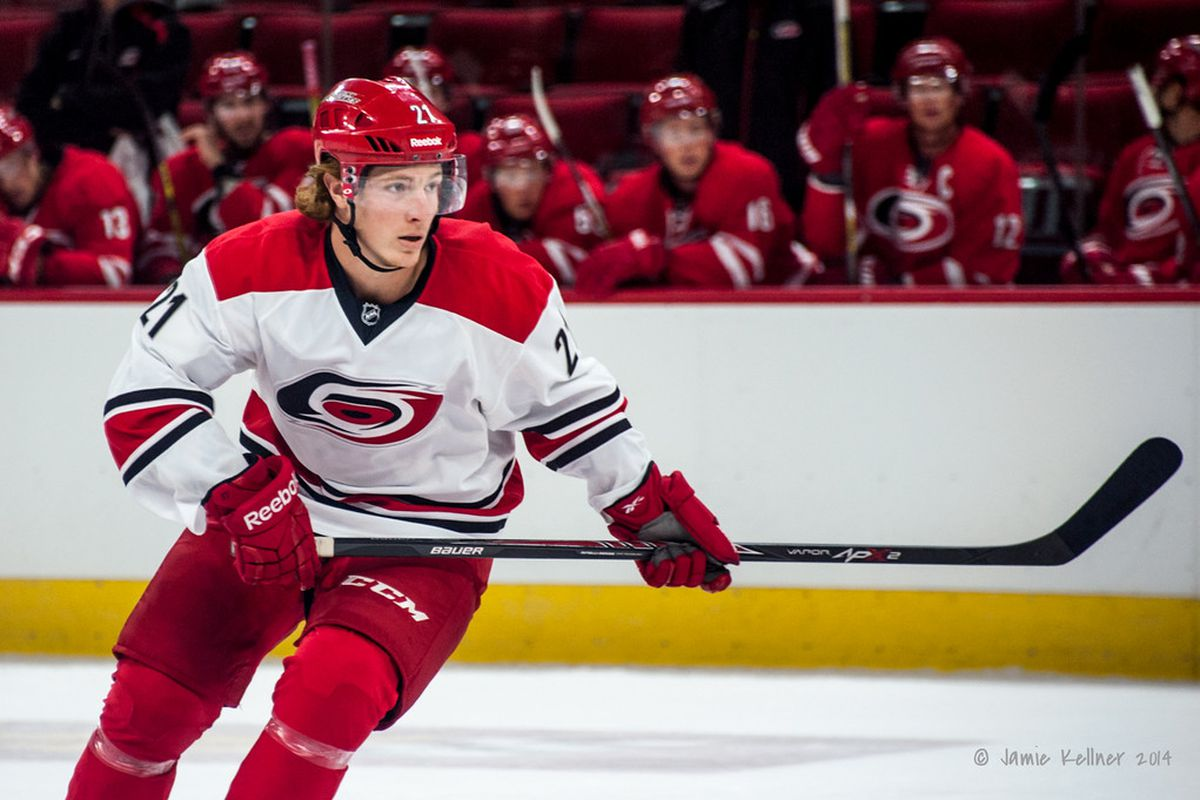 Brock McGinn is one of the young prospects getting another look in tonight's game.