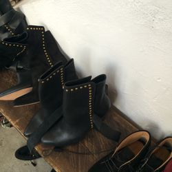 Leather boots, size 39