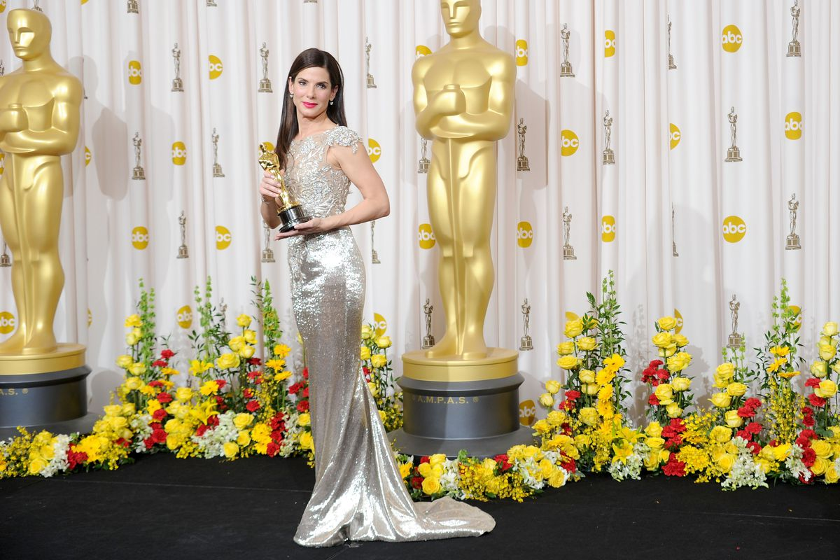 Sandra Bullock accepts her Best Actress Oscar for The Blind Side, one of the last adult-aimed movies to become a blockbuster.