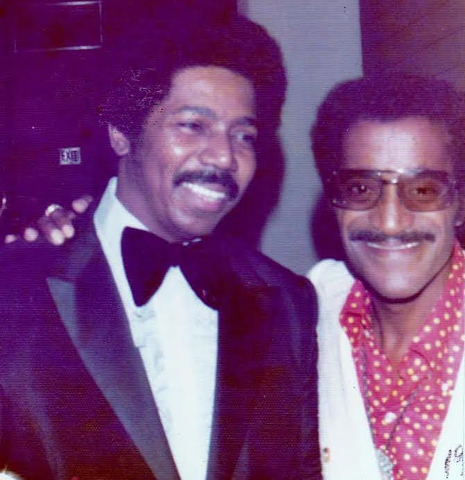 Musician Morris Ellis with Sammy Davis Jr.   Provided photo
