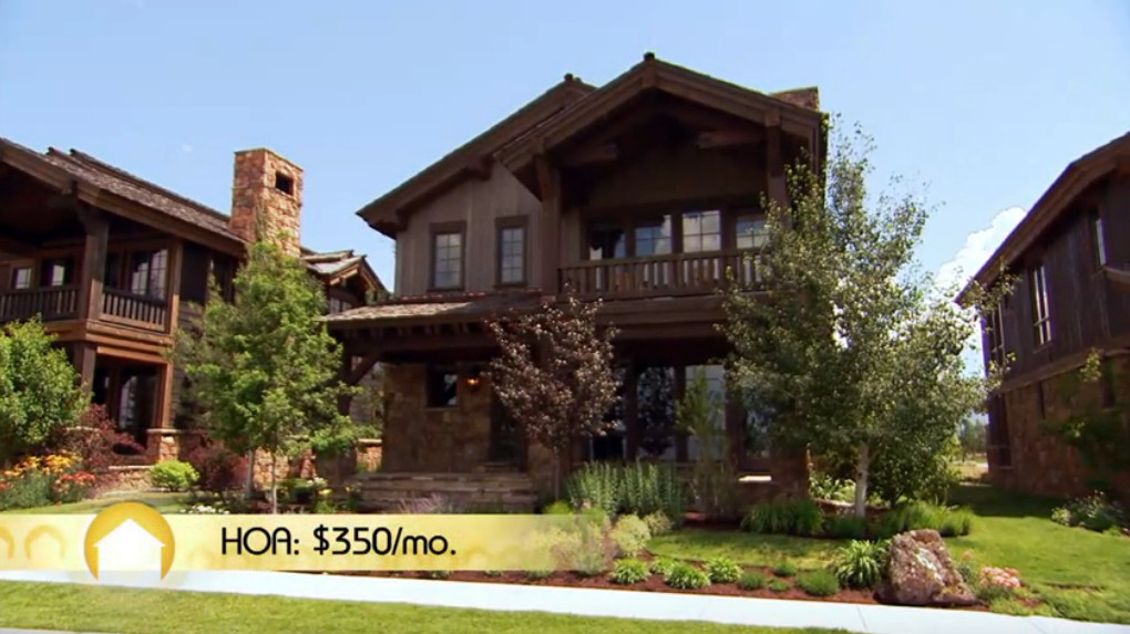 House Sarah and Eric chose, with HOA fees of $350 per month