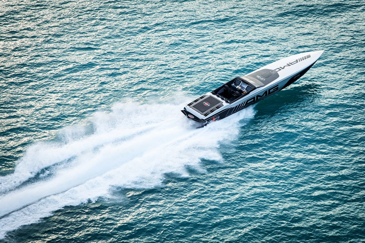 Mercedes Amg Helped Design A Boat That S Smoking Fast