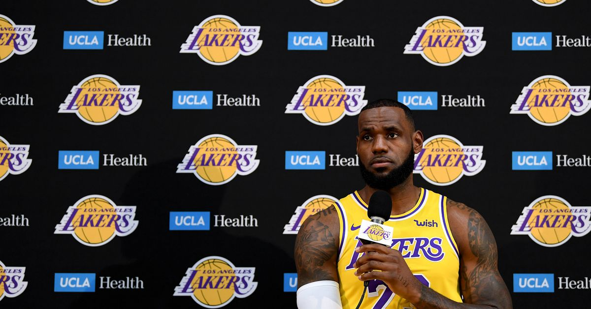 LeBron James in a Lakers jersey is surreal. So is seeing his new teammates