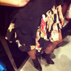 We've got our eyes on this fluttery skirt for spring.