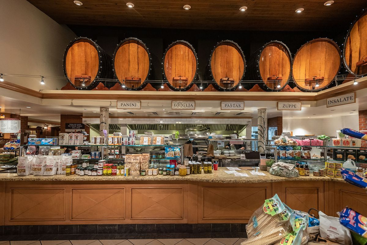 The expanded showroom and market in San Antonio Winery