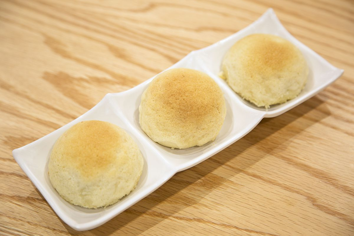 Baked buns with barbecue pork from Tim Ho Wan.