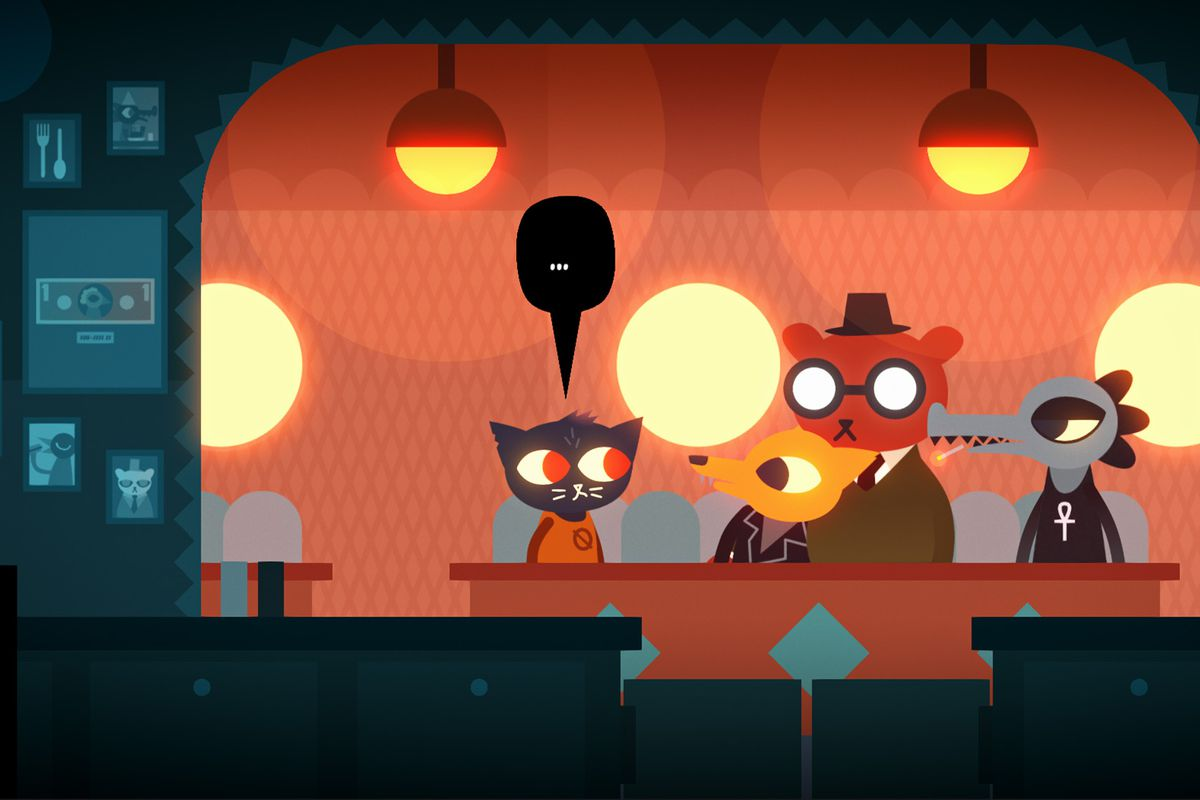 Night in the Woods - Mae talking with her friends
