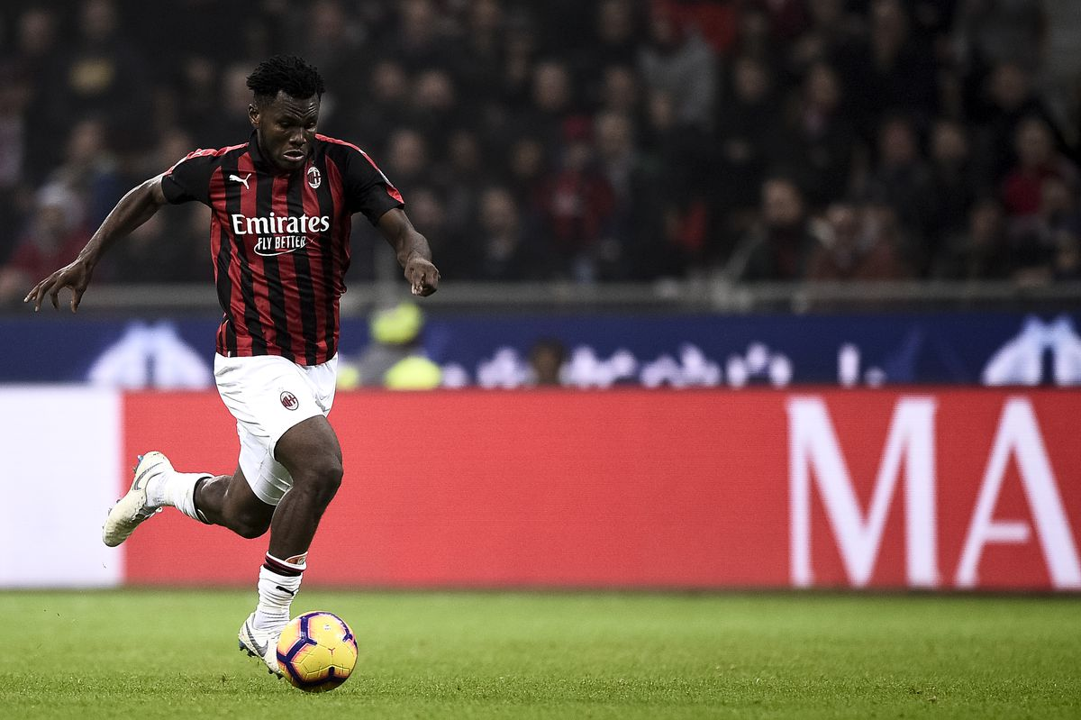Franck Kessie of AC Milan in action during the Serie A...