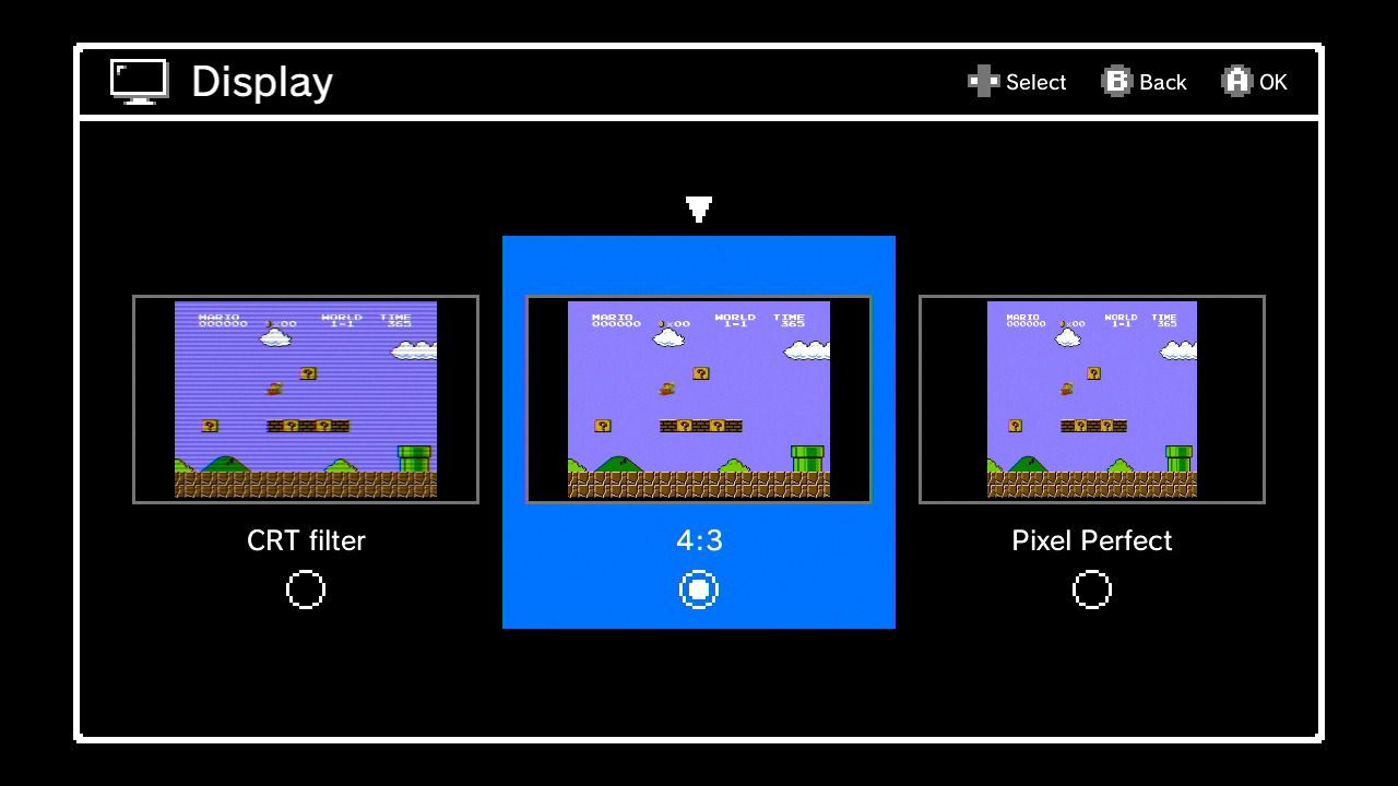 The NES Classic has a CRT filter to make games look properly old