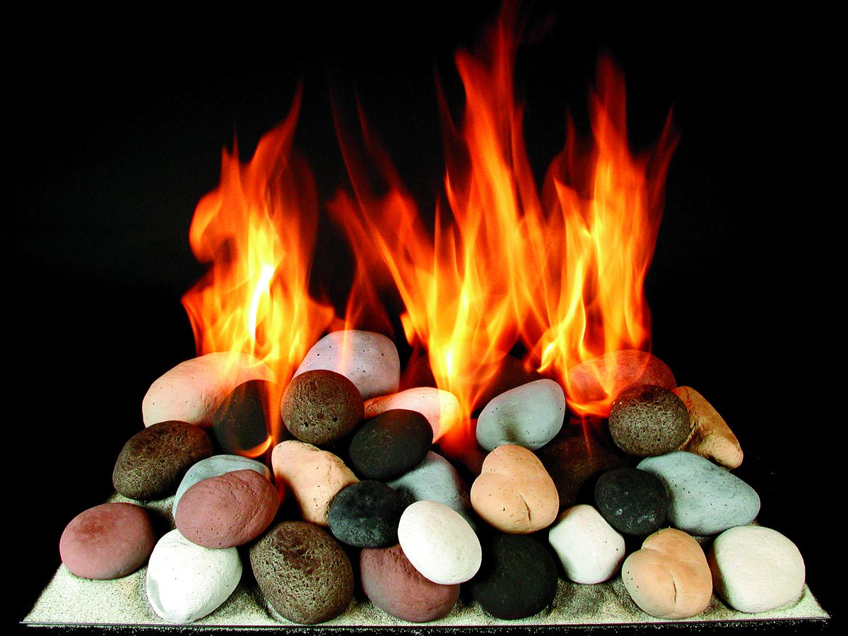 Ceramic Stones For Gas Fireplace