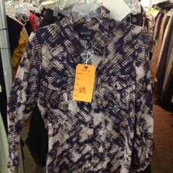 <b>Barneys New York</b> silk blouse, $29