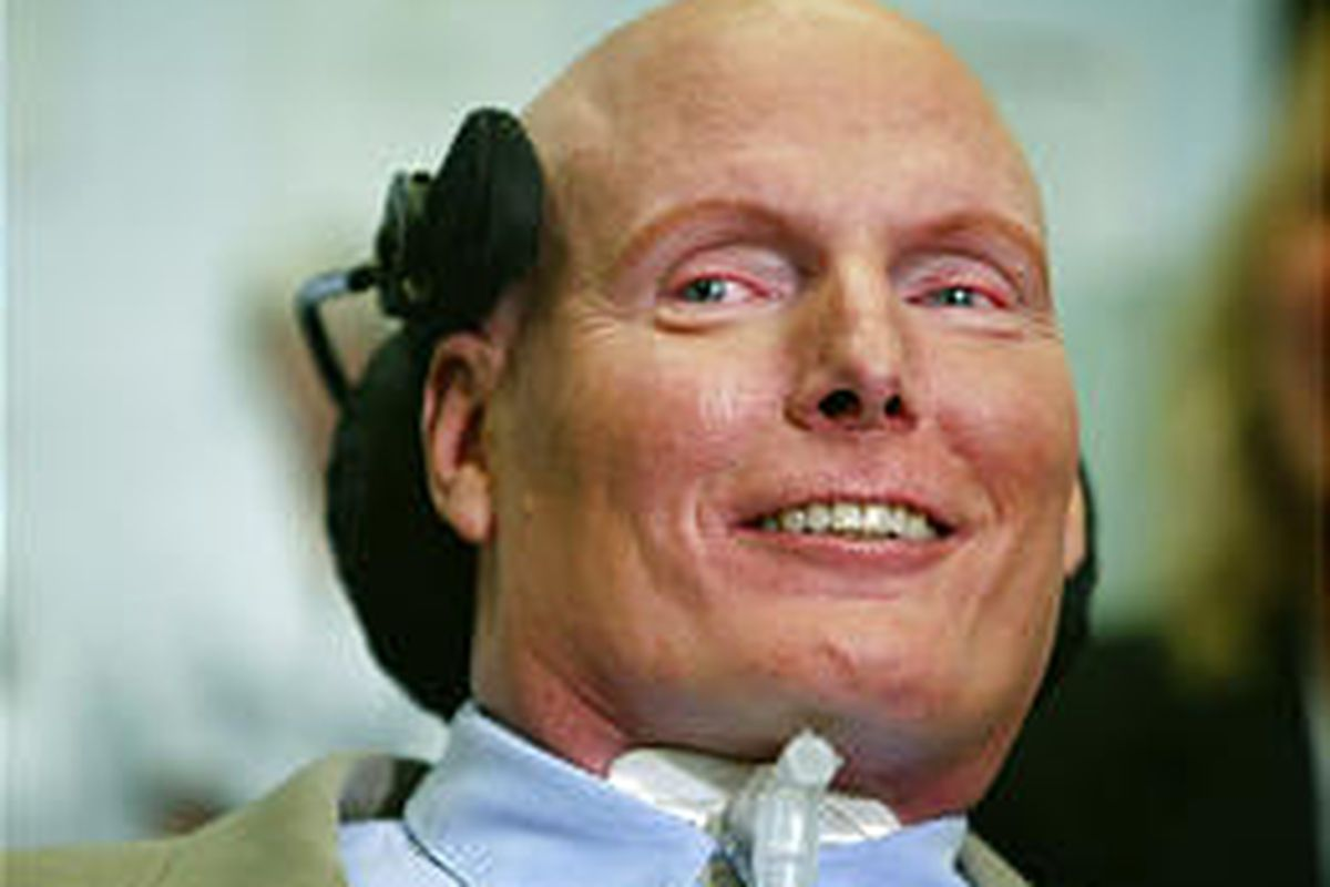 Christopher Reeve, whose near-fatal riding accident nine years ago turned him into an advocate for spinal cord research, died at his New York home.
