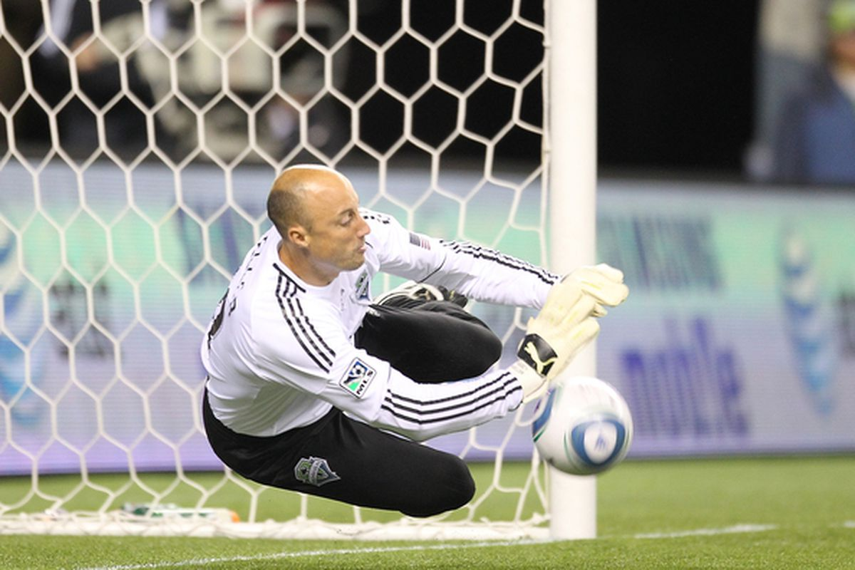 Kasey Keller came up big to stop Robbie Findley on a penalty attempt in the first half.