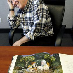 """Artist James C. Christensen's art was compiled into a book titled """"Passage by Faith: Exploring the Inspirational Art of James C. Christensen."""""""