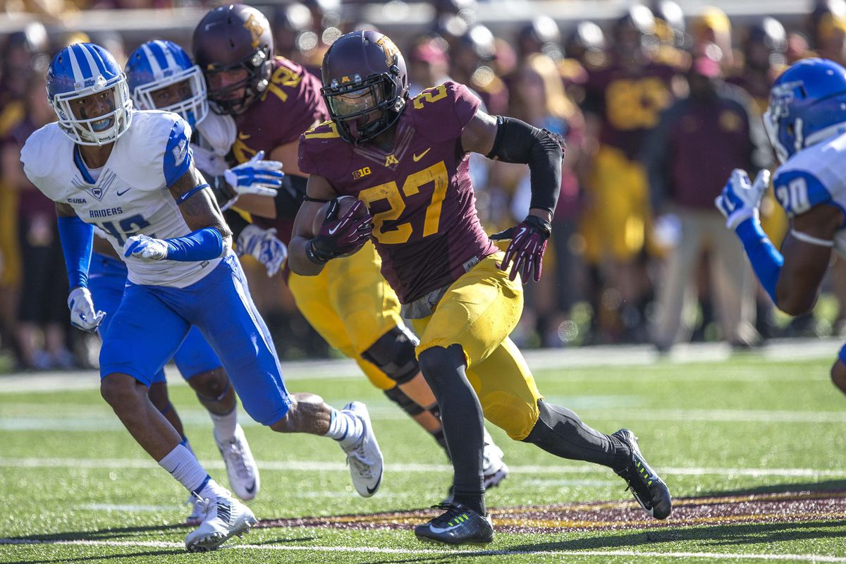 David Cobb and the Gophers play one of a challenging slate of games for the middle of the B1G in Week 3.