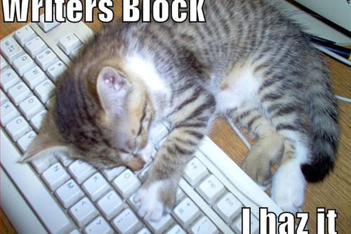 "Well, I think I do........ (via <a href=""http://ozatheist.files.wordpress.com/2008/12/writers-block.jpg"">ozatheist.files.wordpress.com</a>)"
