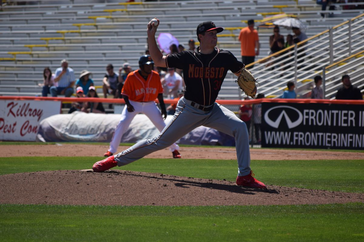 Ryan Castellani delivers a pitch against the San Jose Giants
