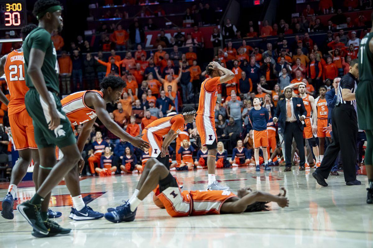 NCAA Basketball: Michigan State at Illinois